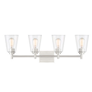 Westin Satin Platinum Four-Light Bath Vanity