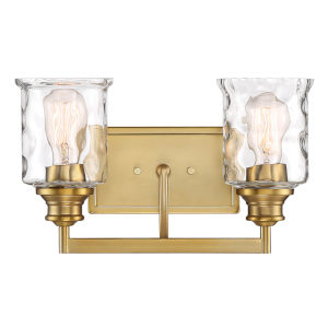 Drake  Brushed Gold Two-Light Bath Vanity