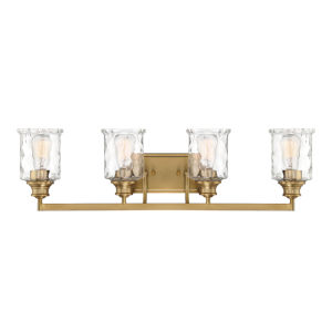 Drake  Brushed Gold Four-Light Bath Vanity
