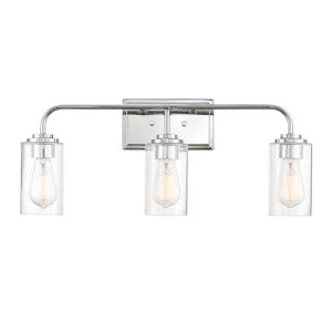 Logan  Chrome Three-Light Bath Vanity