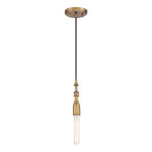 Louise Old Satin Brass One-Light Mini Pendant