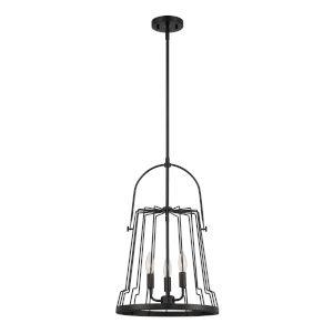 Alba Matte Black Three-Light Pendant