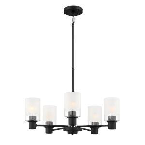 Cedar Lane Matte Black Five-Light Chandelier