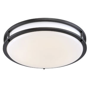 Oil Rubbed Bronze 14-Inch LED Flush Mount