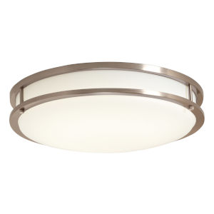 Brushed Nickel 16-Inch 4000K LED Flush Mount