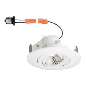 White 10W 3000K 600 Lumen LED Recessed Light