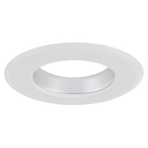 Chrome White Four-Inch Recessed Trim Ring
