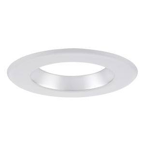 Chrome White Six-Inch Recessed Trim Ring