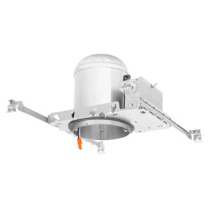 White Six-Inch LED Recessed Construction Can