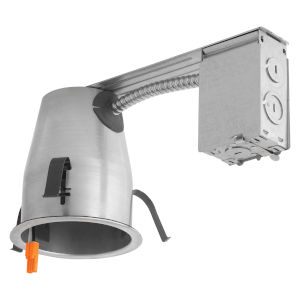 White Six-Inch LED Recessed Housing Remodel Can