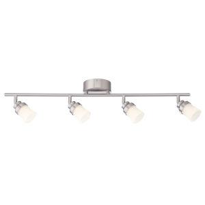 Brushed Nickel 30-Inch Four-Light LED Track Light