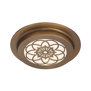 Edge Lit Old Satin Brass LED Flushmount