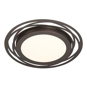 Edge Lit Satin Bronze LED Flushmount