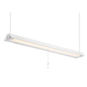 White 48-Inch 5000K Two-Light LED Shop Light