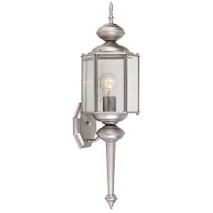 Beveled Glass Lanterns Pewter One-Light Wall Lantern
