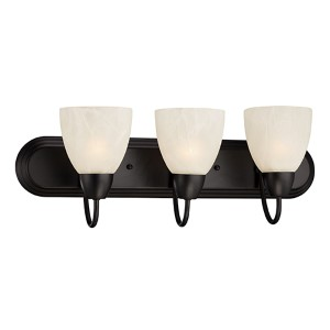Torino Oil Rubbed Bronze Three-Light Bath Fixture