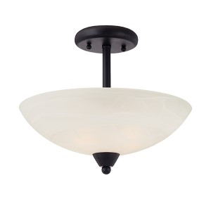 Torino Oil Rubbed Bronze Two-Light Semi-Flush