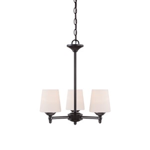Darcy Oil Rubbed Bronze Three-Light Chandelier