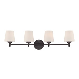 Darcy Oil Rubbed Bronze Four-Light Bath Fixture
