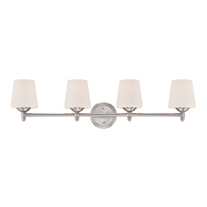 Darcy Brushed Nickel Four-Light Bath Fixture
