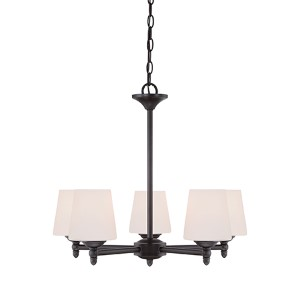 Darcy Oil Rubbed Bronze Five-Light Chandelier