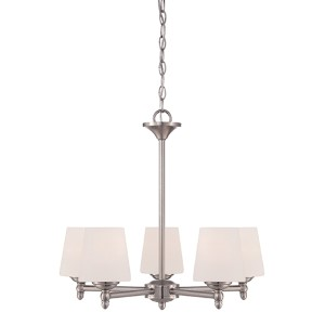 Darcy Brushed Nickel Five-Light Chandelier