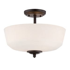 Darcy Oil Rubbed Bronze Three-Light Semi-Flush