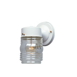 Porch White Jelly Jar Wall Light