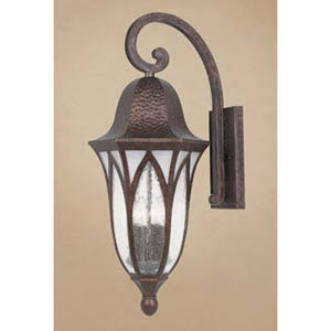 Berkshire Burnished Antique Copper Four-Light Outdoor Wall Mounted Light