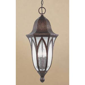 Berkshire Burnished Antique Copper Four-Light Outdoor Pendant