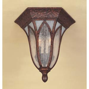Berkshire Burnished Antique Copper Two-Light Outdoor Flush Mount