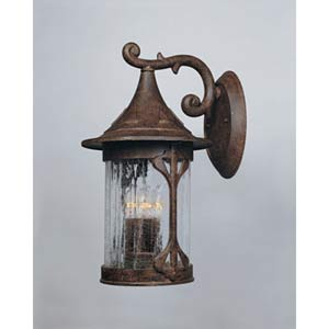 Canyon Lake Chestnut Four-Light Outdoor Wall Light