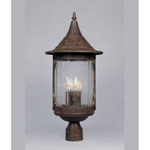Canyon Lake Chestnut Four-Light Outdoor Post Light