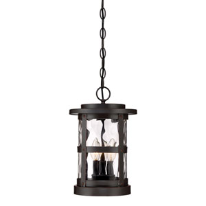 Terraze Satin Bronze Three-Light Outdoor Hanging Lantern