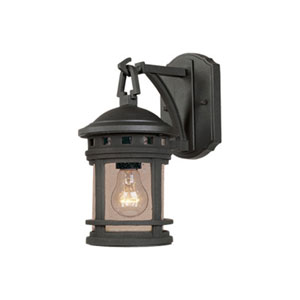 Sedona Oil Rubbed Bronze One-Light Outdoor Wall Mount with Seedy Glass