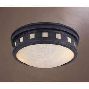 Oil Rubbed Bronze Two-Light Flush Mount