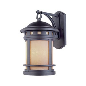 Sedona Oil Rubbed Bronze Small Three-Light Outdoor Wall Lantern