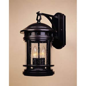 Sedona Oil Rubbed Bronze Three-Light Outdoor Wall Mounted Light