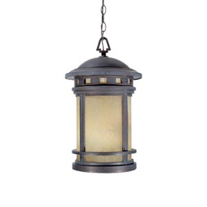 Sedona Mediterranean Patina Three-Light Outdoor Pendant