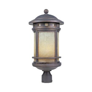 Sedona Mediterranean Patina Three-Light Outdoor Post Lantern