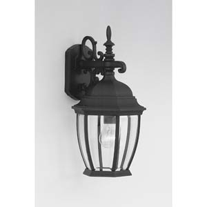 Tiverton Black One-Light Outdoor Wall Mounted Light