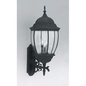 Tiverton Black Three-Light Outdoor Wall Mounted Light