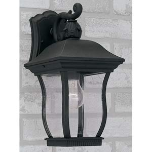 Chelsea Black One-Light Outdoor Wall Mounted Light