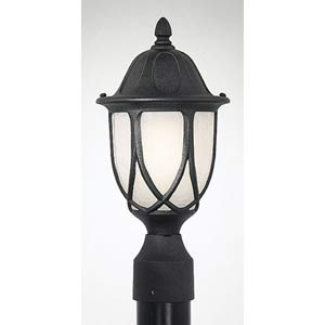 Capella Black One-Light Outdoor Post Mounted Light