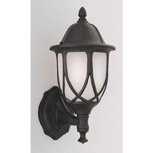 Capella Black One-Light Outdoor Wall Mounted Light