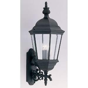 Abbington Black Three-Light Outdoor Wall Mounted Light