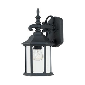 Devonshire Black Small One-Light Outdoor Wall Lantern