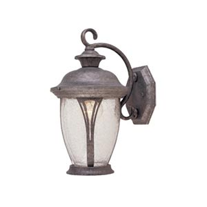 Westchester Rust Silver One-Light Outdoor Wall Lantern