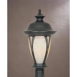 Westchester Bronze Three-Light Outdoor Post Mounted Light