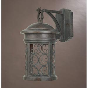 Ellington Mediterranean Patina One-Light Dark Sky Outdoor Wall Light